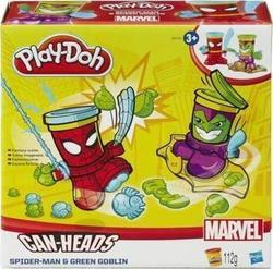 Hasbro Play-doh Marvel Can Heads Captain America and Green Goblin