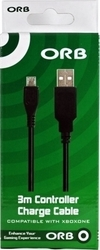 ORB Charge & Play 3m Charging Cable USB XBOX ONE
