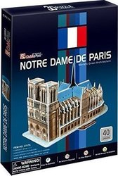Notre Dame de Paris (France): 40pcs (C717h) Cubic Fun