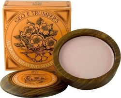 Geo F Trumper Almond Hard Shaving Soap Wooden Bowl 80gr