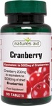 Natures Aid Cranberry 200mg 90 ταμπλέτες
