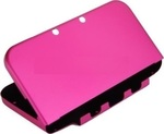 OEM Plastic Aluminum Case Fuchsia New 3DS XL