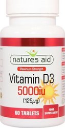 Natures Aid Vitamin D3 5000iu 60 ταμπλέτες