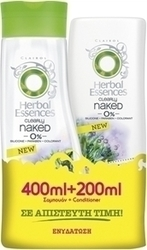 Herbal Essences Clearly Naked 0% Moisture Shampoo 400ml & Conditioner 200ml