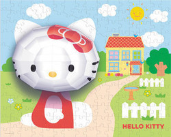 3D Hello Kitty 100pcs (C02G0570010) Mega Puzzles