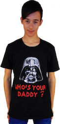 T-SHIRT ΠΑΙΔΙΚΟ TAKEPOSITION, WHO'S YOUR DADDY, 801-7007