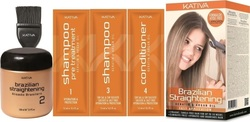 Kativa Brazilian Straightening Kit Shampoo 15ml & Treatment 100ml & Shampoo 15ml & Conditioner 15ml