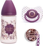 Suavinex Haute Couture Set Beautiful Flower, Πλαστικό Μπιμπερό 270ml
