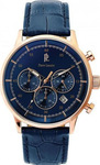Pierre Lannier Retro Chronograph Blue Leather 225D466