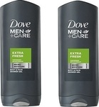 Dove Men Care Extra Fresh Body Wash 2x400ml