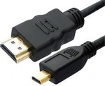 OEM HDMI 1.3 Cable HDMI male - micro HDMI male 1.5m (Gold Plated)