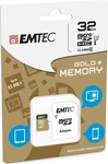 Emtec Gold+ microSDHC 32GB U1 with Adapter