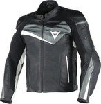 Dainese Veloster Leather Black/Anthracite/White