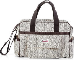 Chipolino Diaper Bag Luxe Beige Leaves
