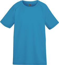 Kids Performance T Fruit of the Loom 61-013-0 - Azure Blue