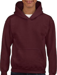 Blend Youth Hooded Παιδικό Sweatshirt Gildan 18500B - Maroon