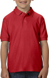 DryBlend Youth Double Pique Polo Gildan 72800B - Red