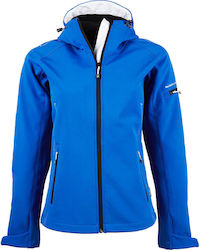 Ladies Hooded Fashion Softshell Jacket Tee Jays 9554 - Sky Diver