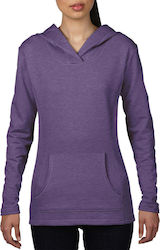 Womens French Terry Hooded Sweat Anvil 72500L - Heather Purple