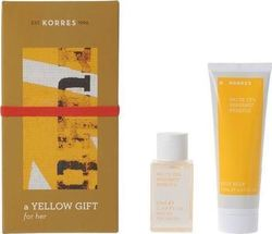 Korres Gift Set For Her White Tea, Bergamont, Freesia Eau de Toilette 50ml & Body Milk 125ml