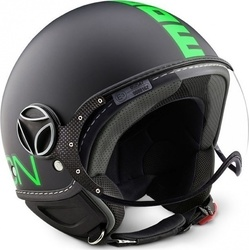 Momo Fgtr Fluo Frost Black - Fluo Green Decal