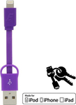 Energizer Flat USB to Lightning Cable Purple 0.08m (POCKETIPPU2)