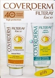 Coverderm Filteray Face SPF40 Tinted Soft Brown 50ml & After Sun Gel 50ml