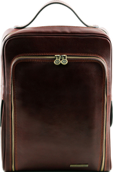 Tuscany Leather Bangkok Leather Laptop TL141289 Dark Brown