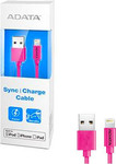 Adata USB to Lightning Cable Pink 1m (AMFIPL-100CM-CPK)