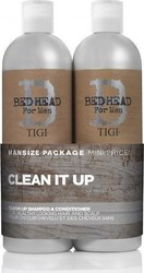 Tigi Bed Head Men Clean It Up Shampoo 750ml & Conditioner 750ml