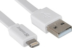 Sandberg Flat USB to Lightning Cable White 1m (440-90)