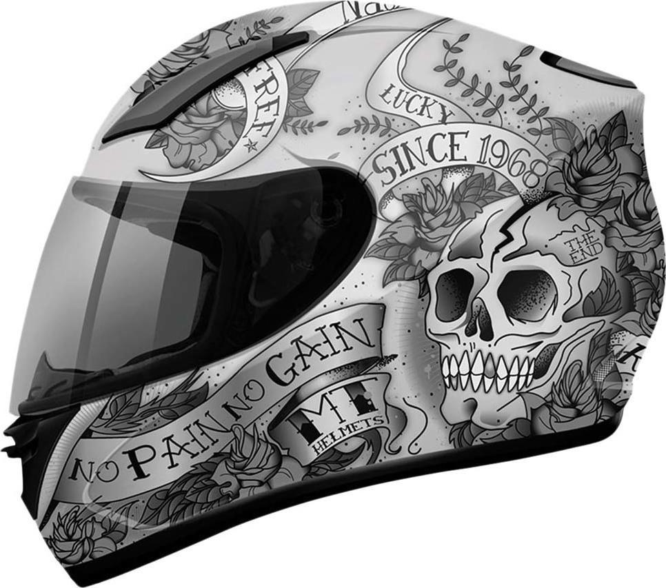 MT Revenge Skull   Rose Matt Silver Anthracite Black db9b254f21c