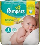Pampers New Baby No 1 (2-5Kg) 22τμχ