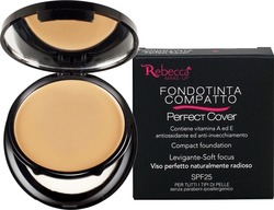 Rebecca Perfect Cover Compact Foundation No 03 Biscuit SPF25 9gr