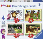 Masha & Bear 4 in a Box 12, 16, 20 & 24pcs (07028) Ravensburger