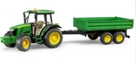 Bruder John Deere 5115M Tractor With Trailer