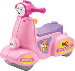 Fisher Price Laugh & Learn Smart Stages Scooter Pink