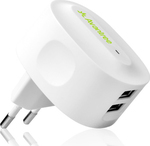 Avantree 2x USB Wall Adapter Λευκό (TR602-E)