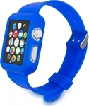 KW SIlicone Watch Strap Case Blue (Apple Watch 42mm)