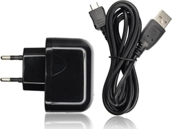 Blue Star micro USB Cable and Wall Adapter Μαύρο (ML003549)