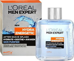 L'Oreal Men Expert Hydra Energetic Skin Purifier After Shave Splash 100ml