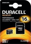 Duracell Memory microSDHC 16GB U1 with Adapter