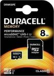 Duracell Memory microSDHC 8GB U1 with Adapter