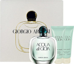 Giorgio Armani Acqua Di Gioia Eau De Parfum 100ml, Body Lotion 75ml & Shower Gel 75ml