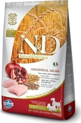 N&D Low Grain Light Mini & Medium Κοτόπουλο & Ρόδι 2.5kg