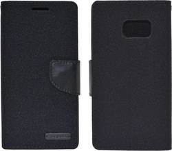 Ancus Book Canvas Diary Black (Galaxy S7)