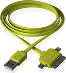 Outdoor Tech Calamari USB to Apple 30-Pin/Lightning/micro USB Cable Πράσινο 0.9m (OT3100-G)