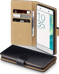 Terrapin Leather Wallet για Sony Xperia XA Black/Tan