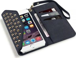 Terrapin Rock Chic Studded Leather & 6S Plus Black (iPhone 6/6s Plus)