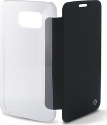 Ksix Flip Book Black - Transparent (Galaxy S6 Edge)